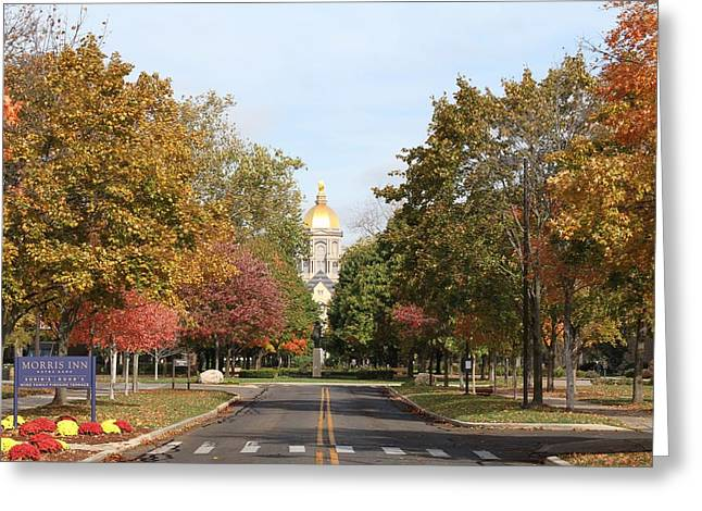 University Of Notre Dame Greeting Card