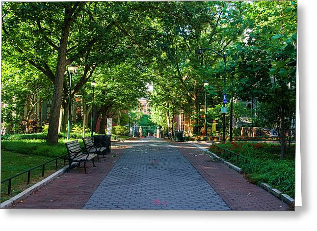 Greeting Card featuring the photograph University Of Pennsylvania Campus - Philadelphia by Bill Cannon