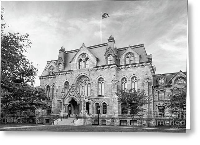 University Of Pennsylvania College Hall Greeting Card by University Icons