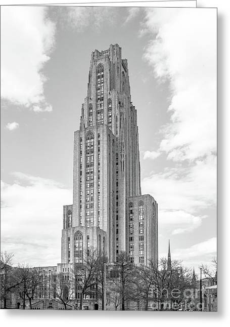 University Of Pittsburgh Cathedral Of Learning Greeting Card by University Icons