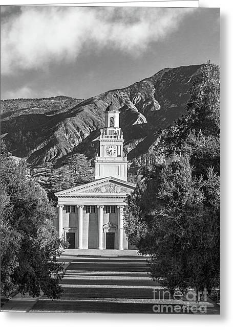 University Of Redlands Memorial Chapel Greeting Card by University Icons