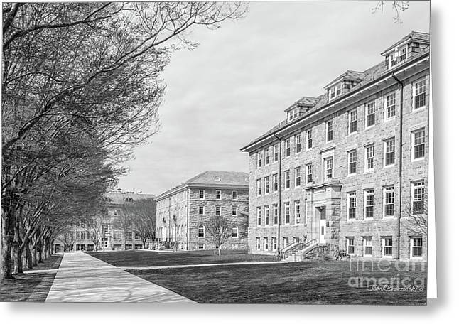 University Of Rhode Island Quad Greeting Card by University Icons