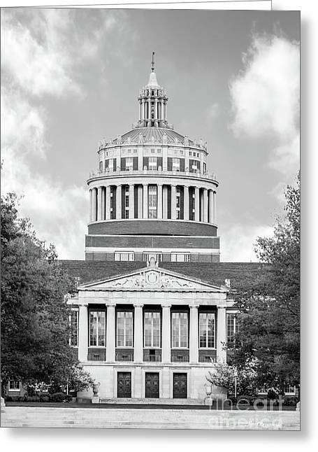 University Of Rochester Rush Rhees Library Greeting Card by University Icons