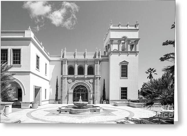 University Of San Diego Hill Hall Greeting Card by University Icons