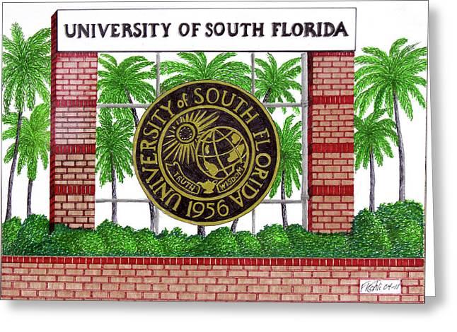 University Of South Florida Greeting Card