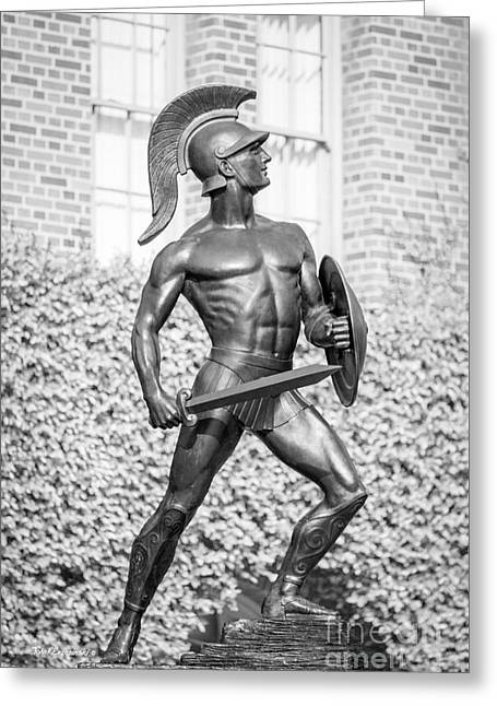 University Of Southern California Tommy Trojan Statue Greeting Card by University Icons