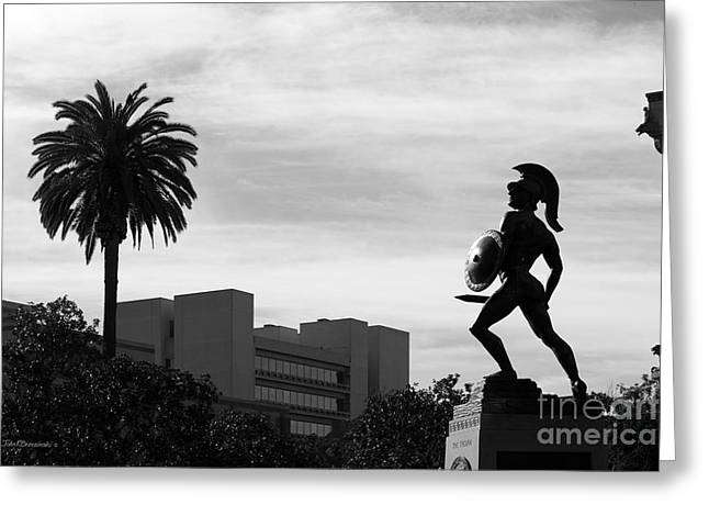 University Of Southern California Tommy Trojan Greeting Card by University Icons