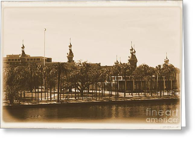 University Of Tampa - Old Postcard Framing Greeting Card by Carol Groenen