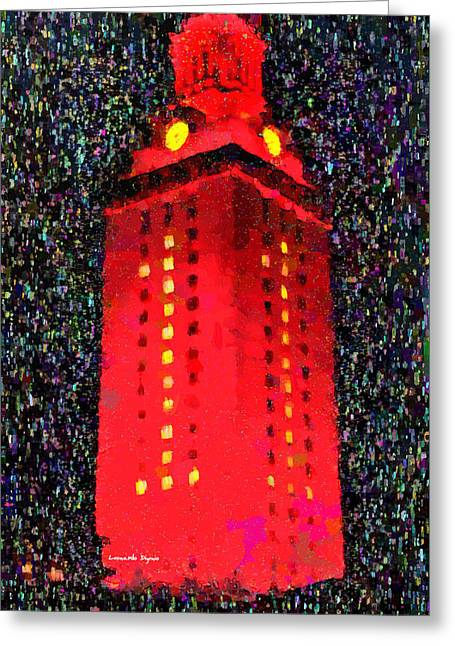 University Of Texas At Austin Tower 11 - Da Greeting Card