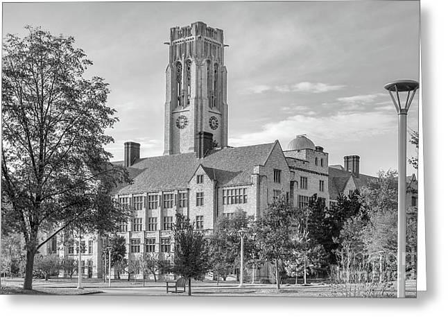 University Of Toledo University Hall Greeting Card by University Icons