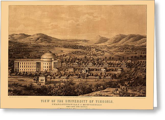 University Of Virginia 1856 Greeting Card by Andrew Fare