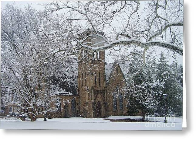 University Of Virginia Chapel Greeting Card by Charlotte Gray