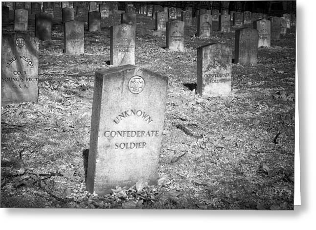 Unknown Confederate Soldier Greeting Card by James Barber