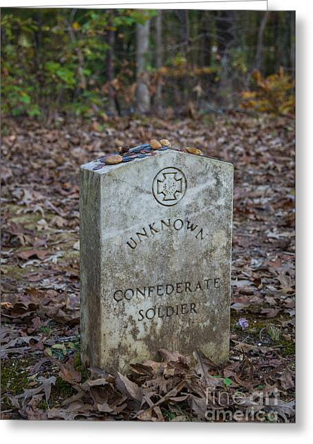 Unknown Confederate Soldier - Natchez Trace Greeting Card by Debra Martz