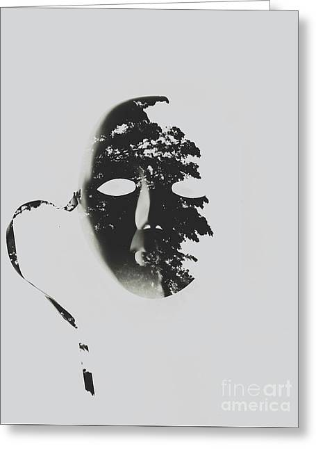 Unmasking In Silence Greeting Card