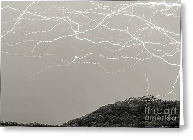 Unreal Lightning Greeting Card