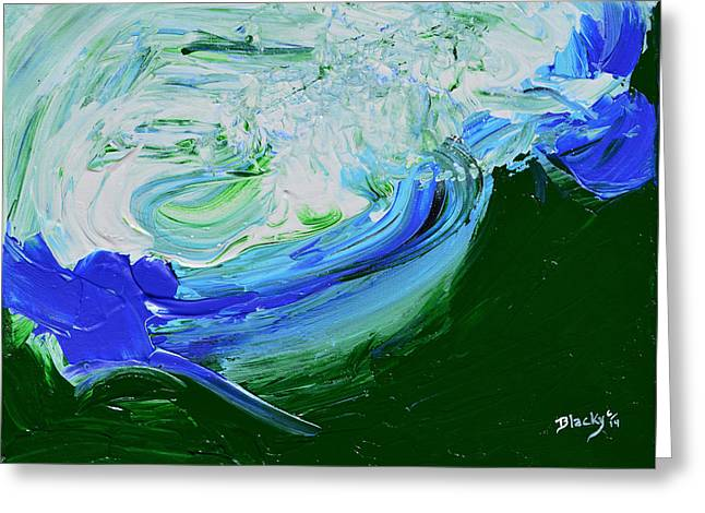 Unrestful Sea Greeting Card by Donna Blackhall