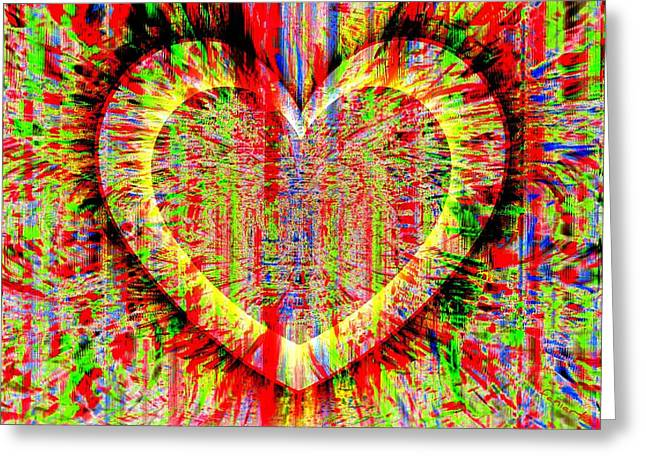 Unsettled Heart Greeting Card by Fania Simon