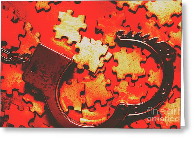 Unsolved Crime Greeting Card by Jorgo Photography - Wall Art Gallery