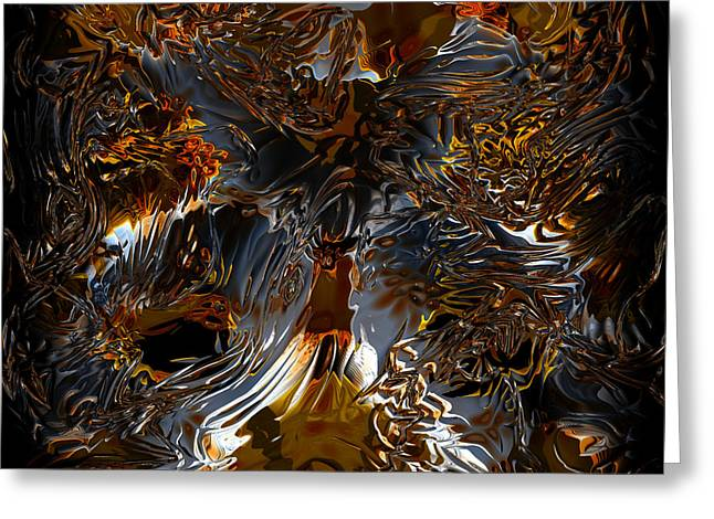 Greeting Card featuring the digital art Unsong by Vadim Epstein