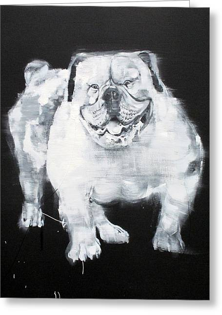 Unstumbling Force #bulldog Greeting Card by Fabrizio Cassetta