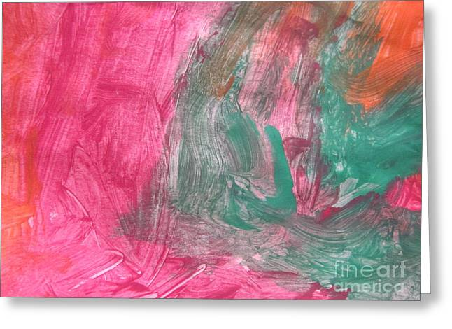 Untitled 123 Original Painting Greeting Card
