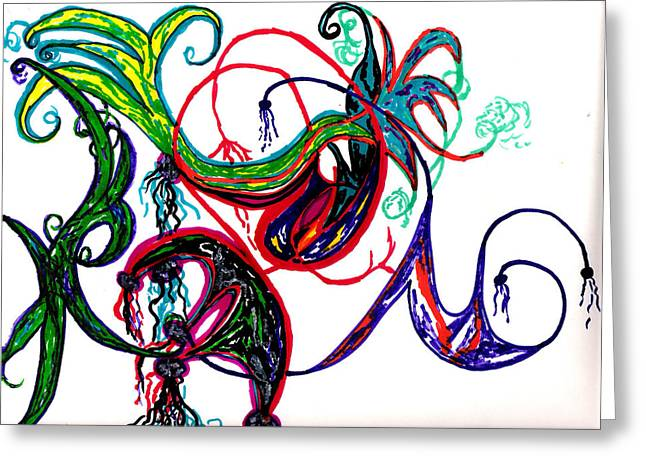 Untitled 2 Greeting Card by Cynthia Sepcie
