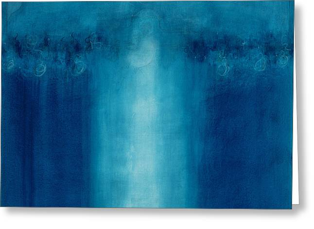 Untitled Blue Painting Greeting Card by Charlie Millar