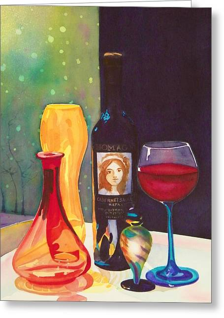 Untitled Glass Greeting Card by Terry Honstead