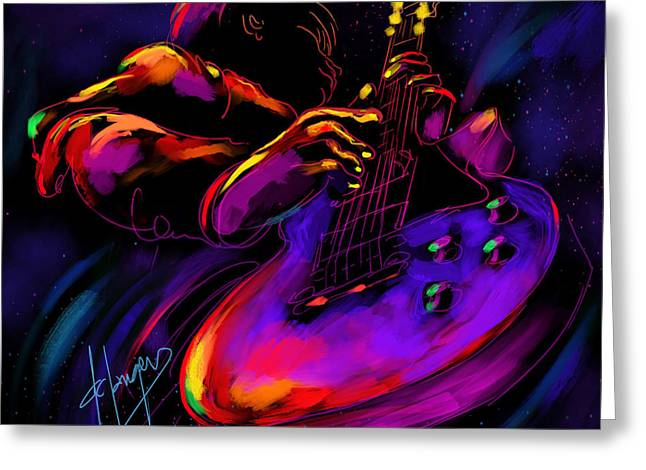 Untitled Guitar Art Greeting Card