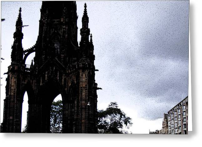 Greeting Card featuring the photograph The Scott Monument by Janelle Dey
