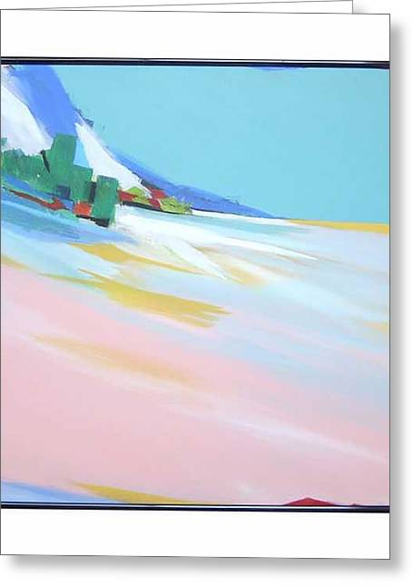 Untitled Landscape Greeting Card by M Jaquis