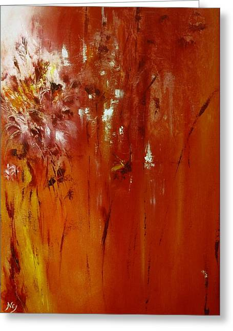 Untitled Red Greeting Card by Larry Ney  II