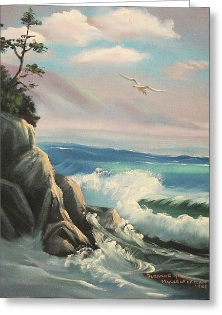 Untitled Seascape Greeting Card by Suzanne  Marie Leclair