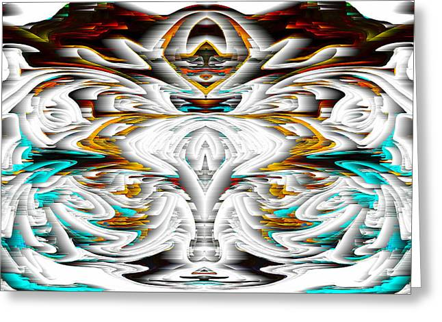 Greeting Card featuring the digital art Untitled Series 992.042212 by Kris Haas