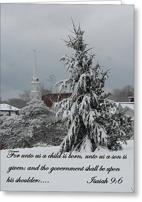 Unto Us Greeting Card by Doug Mills