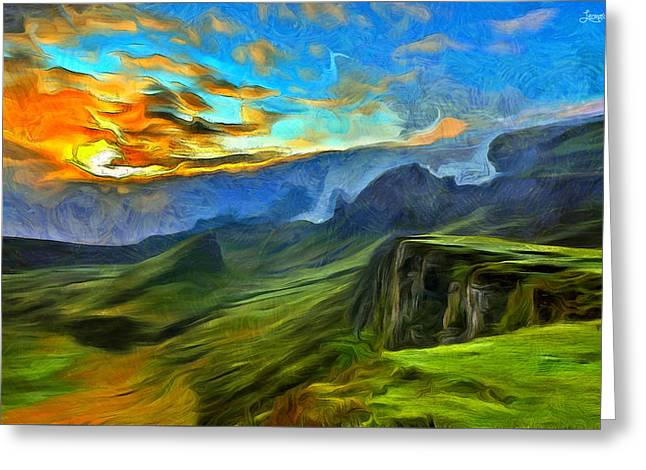 Untouched Mountains - Pa Greeting Card by Leonardo Digenio