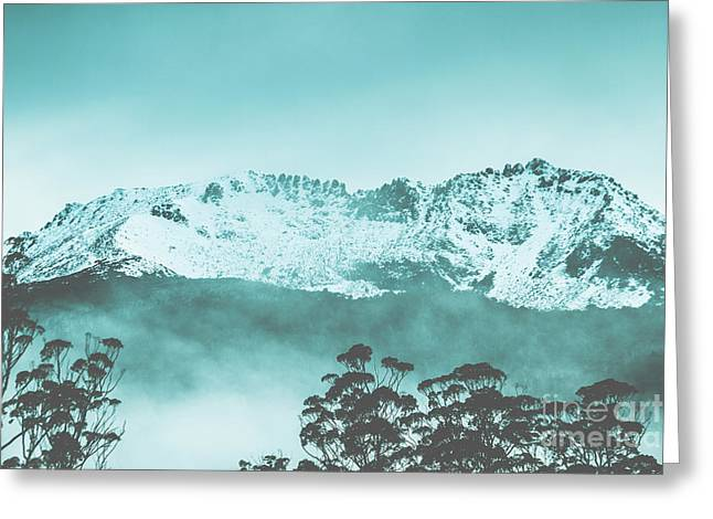 Untouched Winter Peaks Greeting Card by Jorgo Photography - Wall Art Gallery