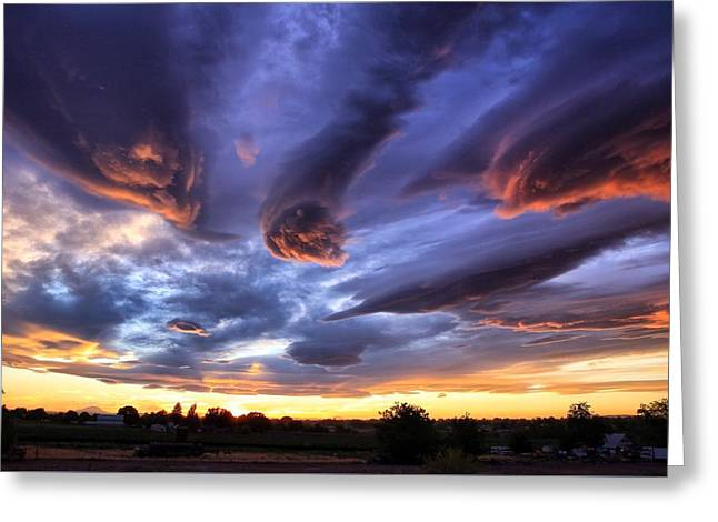 Alien Cloud Formations Greeting Card