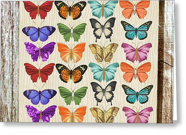 Colourful Butterflies Collage Greeting Card