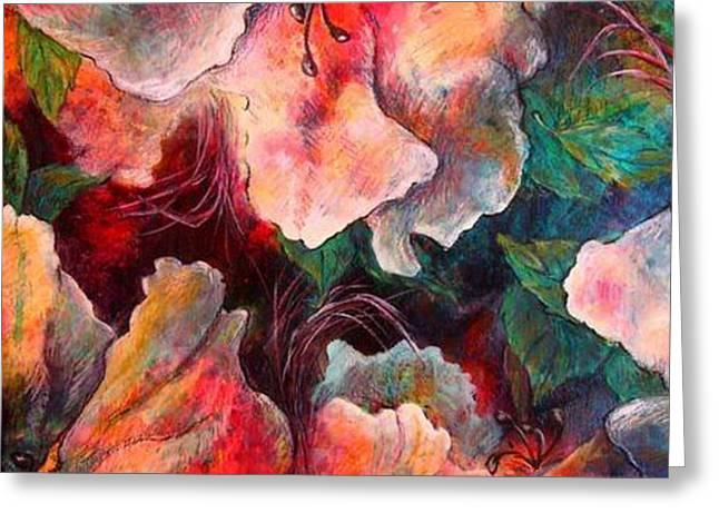 Up Close And In Between Greeting Card by Tracey Flanigan