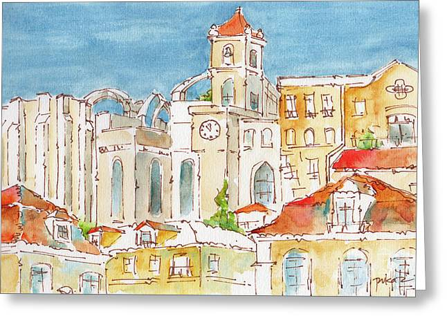 Up From Rossio Square Greeting Card by Pat Katz