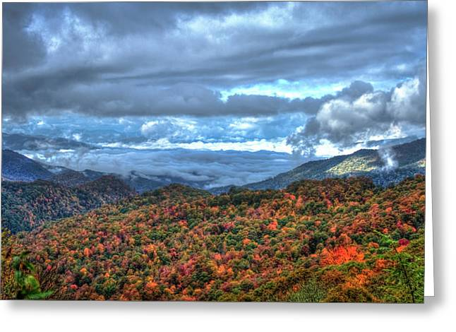 Up In The Clouds Blue Ridge Parkway Mountain Art Greeting Card by Reid Callaway