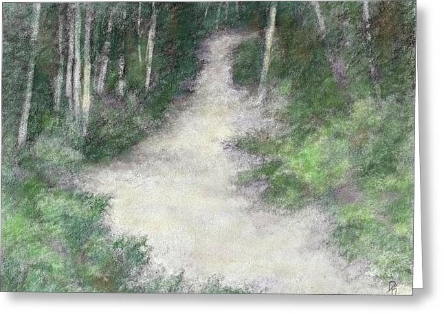 Up Into The Woods Colorized Greeting Card by David King