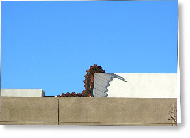 Up On The Roof Greeting Card by Lin Haring