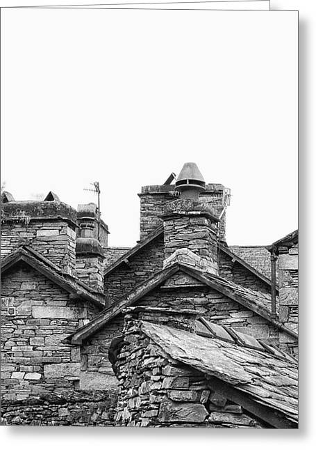 Up On The Roof Greeting Card