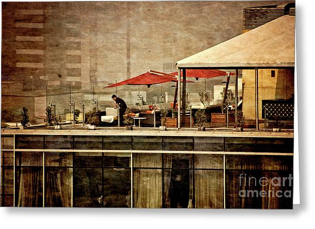 Greeting Card featuring the photograph Up On The Roof - Miraflores Peru by Mary Machare