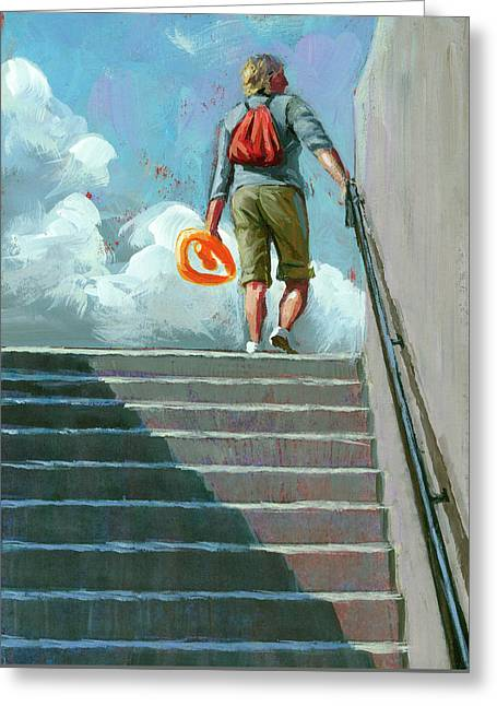 Up Stairs Greeting Card