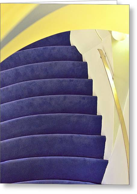 Greeting Card featuring the photograph Up The Down Staircase by Jon Exley