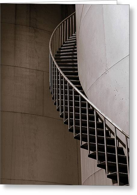 Greeting Card featuring the photograph Up The Down Stairs by Irma BACKELANT GALLERIES